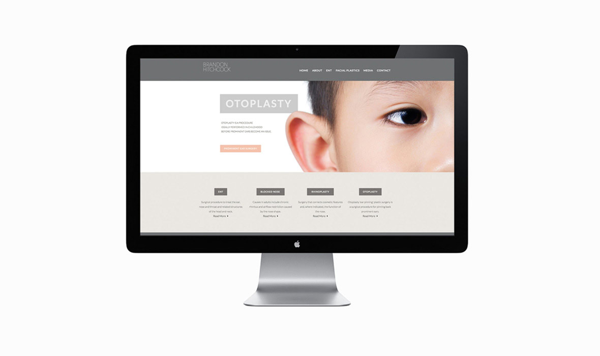 Brandon Hitchcock branding medical website design nz