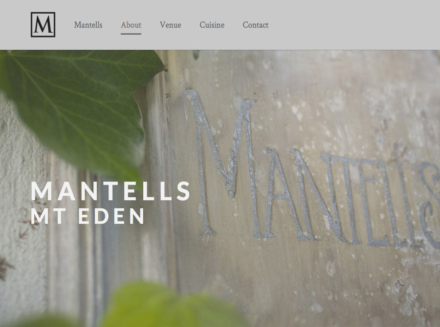 Mantells photography and responsive web design Auckland