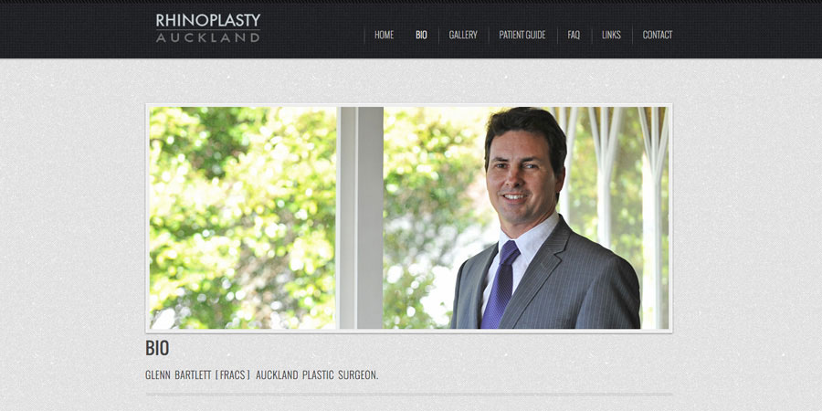 Glen Bartlett Plastic Surgeon Rhinoplasty website Auckland