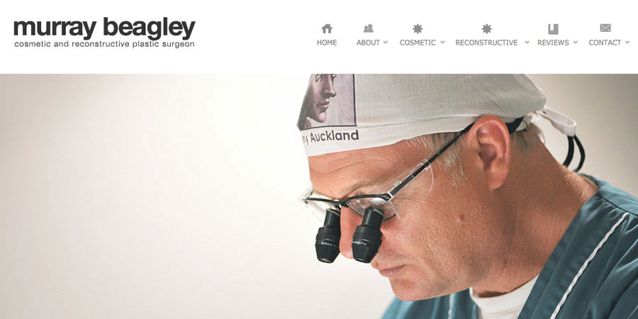 Web design Auckland Murray Beagley Plastic Surgeon