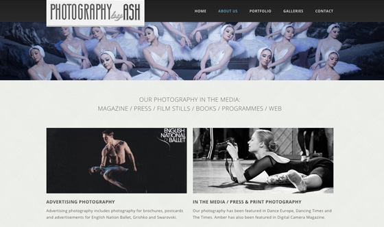 Photography by ASH responsive webdesign UK