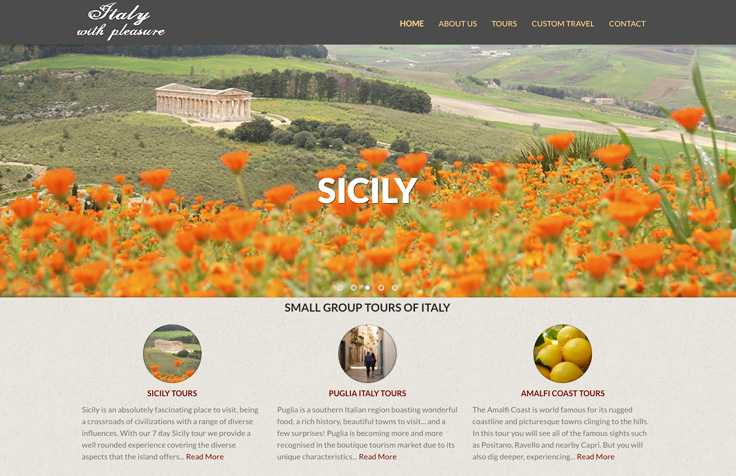 Italy Travel / Tourism Web Design